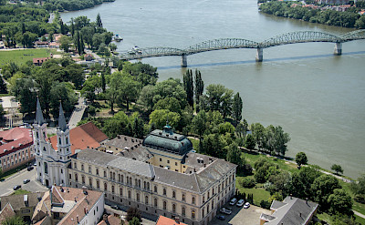 Esztergom along the Danube in Hungary. Flickr:Andrew Moore