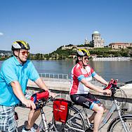 Biking the Danube in Esztergom, Hungary. Photo via TO