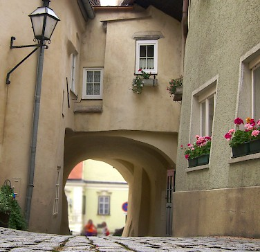 Cobblestone streets in Krems, Austria. Photo via Flickr:Mikel Ortega