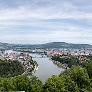 Along the Danube River in Linz, Austria. Photo via Wikimedia Commons:Thomas Ledl