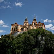 Biking past the Benedictine Abbey, Melk, Austria. Flickr:jay8085