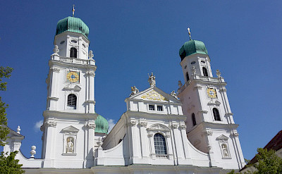 Great churches in Passau, Germany. Photo via TO