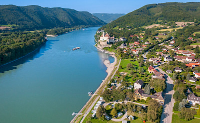 Danube River through the Wachau Valley vineyards. Photo via TO