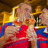 Wine tasting in the Wachau, Austria.