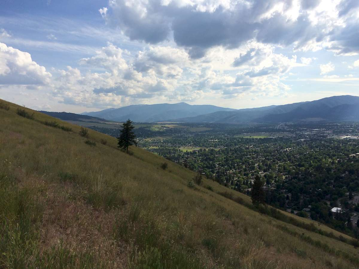 "Views of Missoula from the famous ""M"""