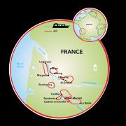 Bordeaux - Castelos, Rios & Vinho Mapa