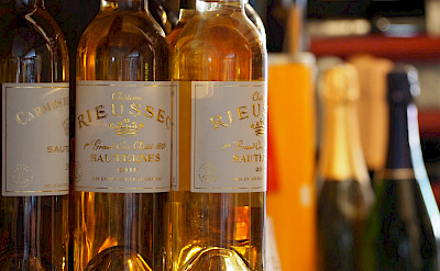Delicious local Sauternes wine. Photo via Flickr:Dominic Lockyer