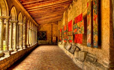 Church courtyard in Saint Emilion, France. Photo via Flickr:Bob Familiar