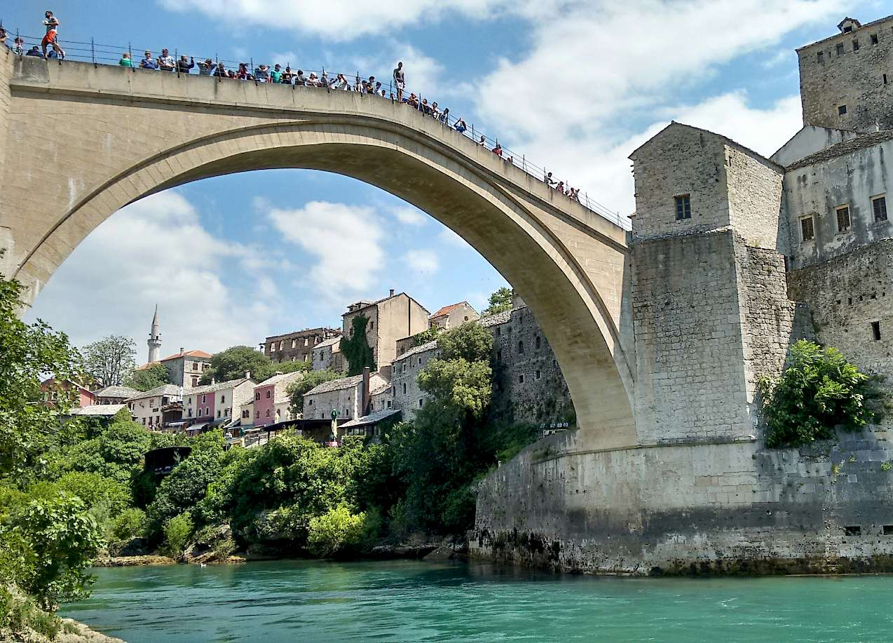 The great arch of Mostar, Bosnia