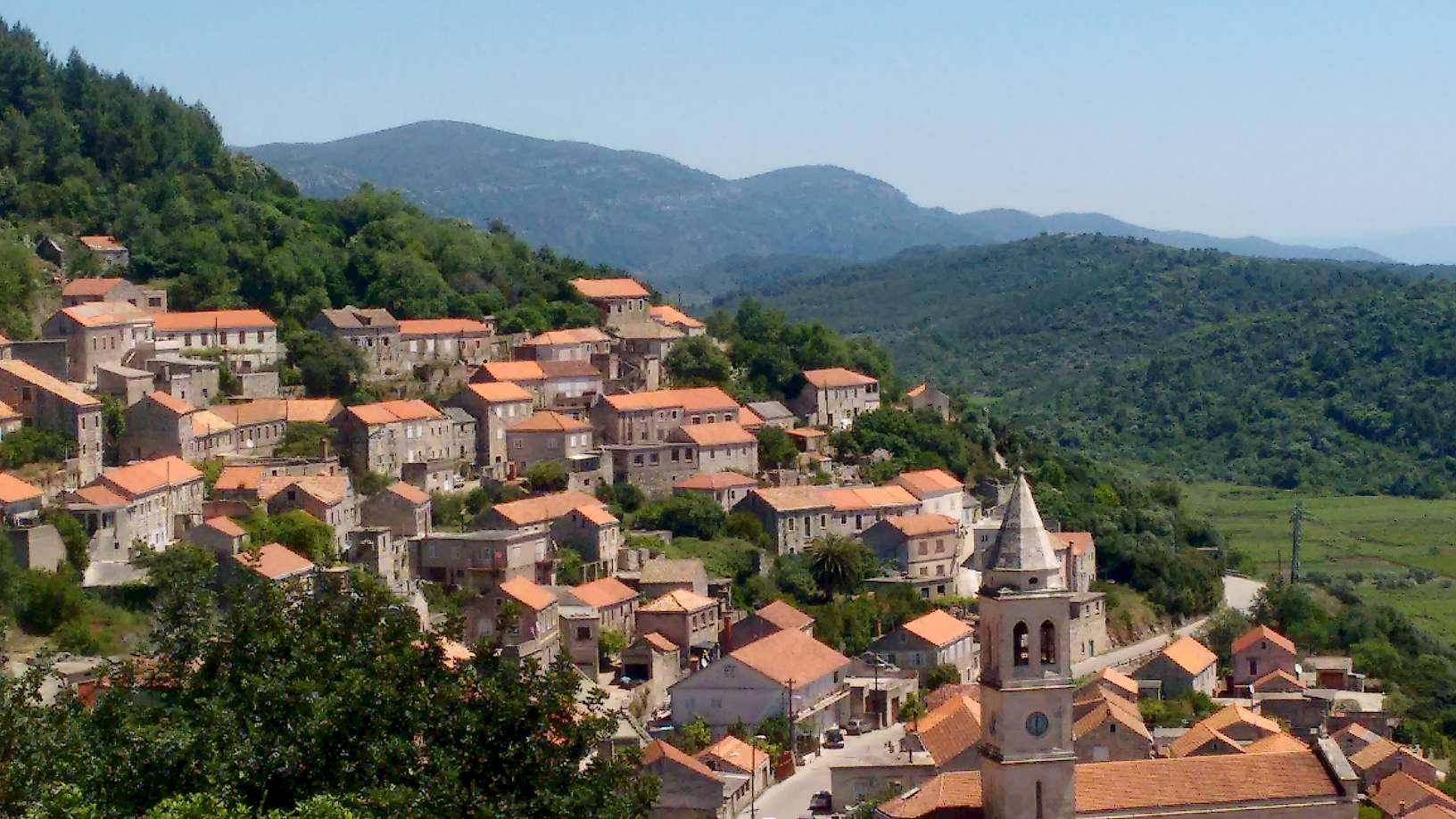 Overlooking the city of Ston, Croatia.