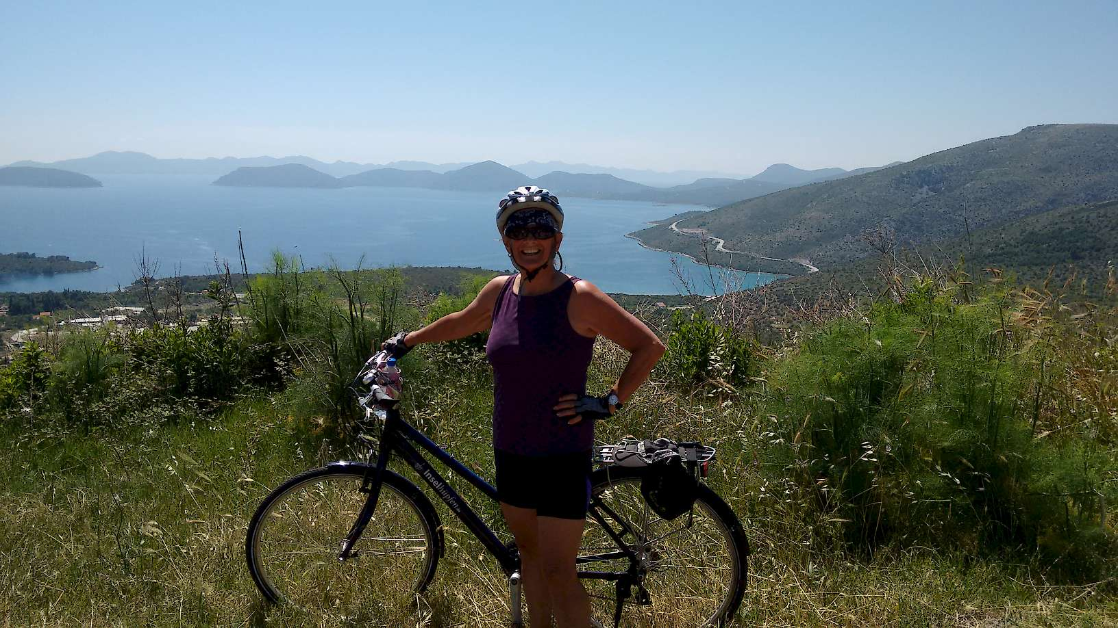 Beth posing for a picture overlooking the Adriatic Sea.