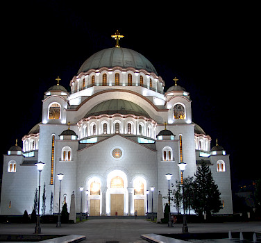 Cathedral of Saint Sava. Photo via flickr: George M. Groutas