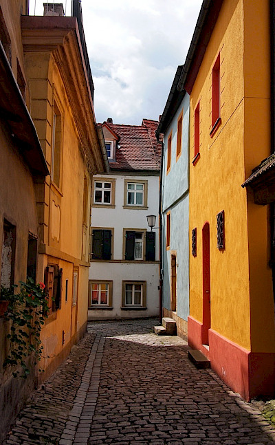 Cobblestone streets in Bamberg, Germany. Flickr:Mos