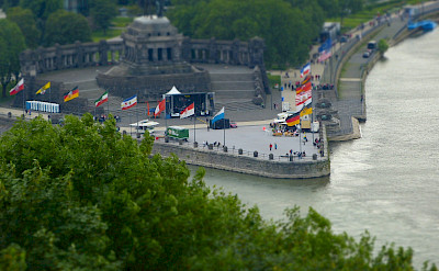 Koblenz at the confluence of River Mosel & Rhine. Flickr:Matthias Nagel