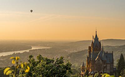 "Schloss Drachenburg on the Siebengebirge (""Seven Hills"") by Königswinter, Germany. View of the Rhine River. Flickr:Arno Hoyer"