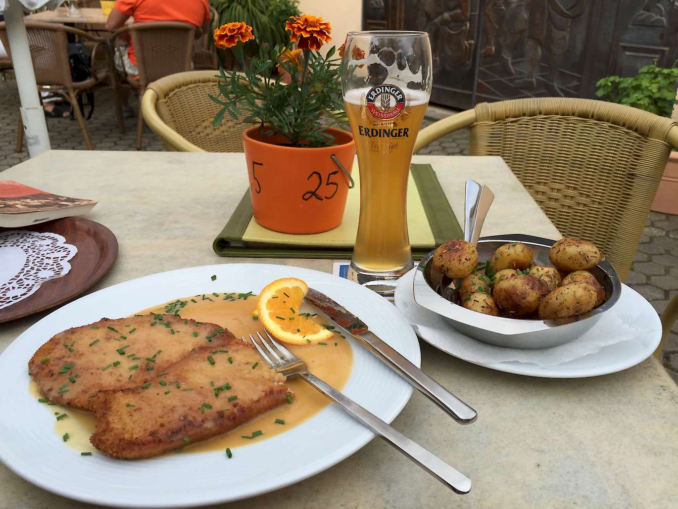 Schnitzel and beer