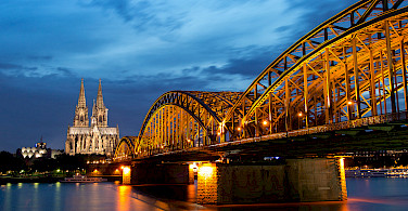 Cologne's landmark Cathedral and Bridge. Photo via Flickr:Anja Pietsch