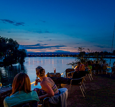 Cafe in Mainz along the Rhine River, Germany. Photo via Flickr:Florian Christoph
