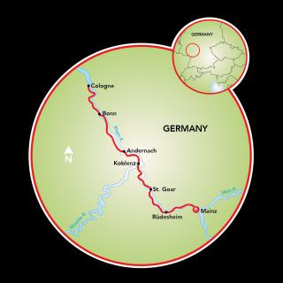 Mainz a Colonia Map