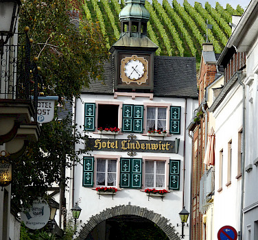 Rudesheim's great architecture and vineyards along the Rhine River, Germany. Photo via Flickr:michael clarke stuff