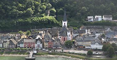 St. Goar along the Rhine River, Germany. Photo via Flickr:m.prinke