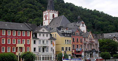 St. Goar along the Rhine River, Germany. Photo via Flickr:Nigel Swales