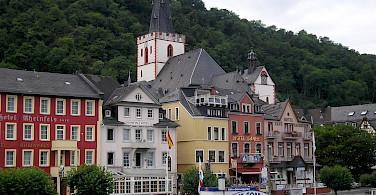 St. Goar along the Rhine River, Germany. Photo via Flickr:Nigel Swales