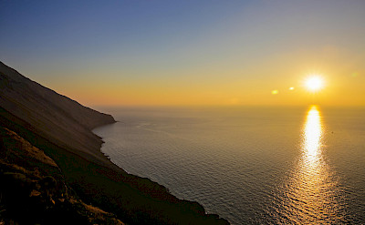 Sicilian sunset over Stromboli.