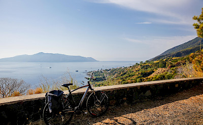 Bike rest on the Sicily & the Aeolian Archipelago Bike Tour.