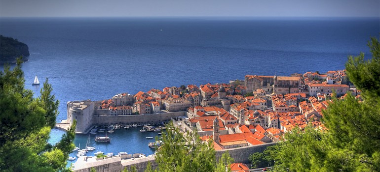 Walled city of Dubrovnik, known as the 'Pearl of the Adriatic'. Dalmatia, Croatia. Photo via Flickr:Michael Caven