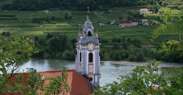 Durnstein in the Wachau Valley with the Danube River, Austria. Photo via Flickr:jay8085