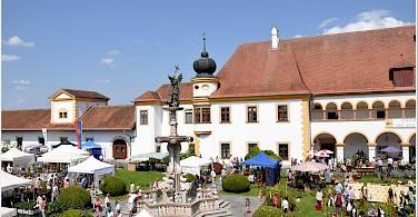 Famous monastery in Reichersberg, Austria. Photo via Flickr:Janos Korom Dr.