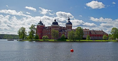 Gripsholm Slott or Castle in Mariefred, Sweden. Photo via Flickr:Allie_Caulfield