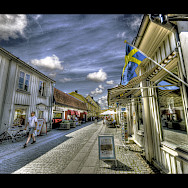 Shopping in Mariefred, Sweden. Photo via Flickr:Bs0u10e0