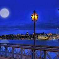 Nighttime in Stockholm. Photo via Flickr:Tobias Lindman