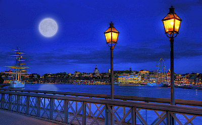 Nighttime in Stockholm. Flickr:Tobias Lindman