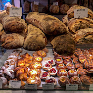 Bread and cakes in Stockholm, Sweden. Photo via Flickr:chas B