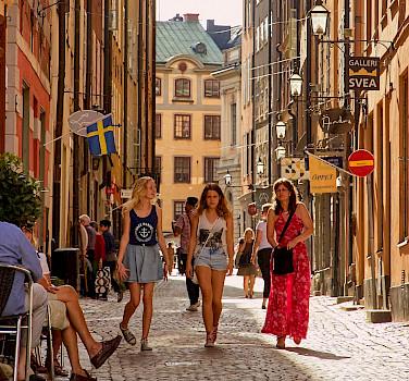 Bike break in Stockholm, Sweden. Photo via Flickr:Pedro Szekely
