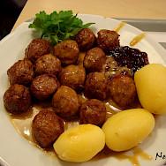 The popular Swedish meatballs or köttbullar. Photo via Flickr:Nenyaki