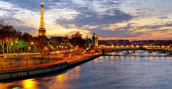 Eiffel Tower, Seine River, Paris, France. Flickr:James Whitesmith