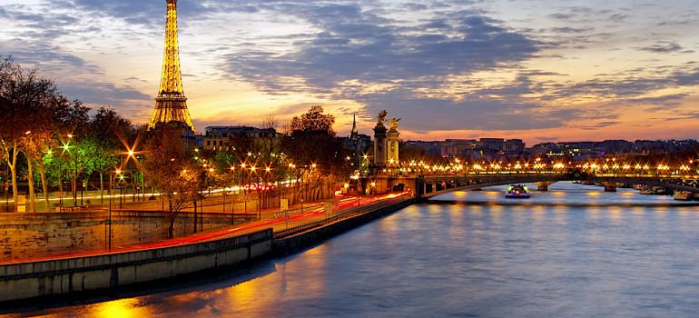 Eiffel Tower, Seine River, Paris, France. Photo via Flickr:James Whitesmith