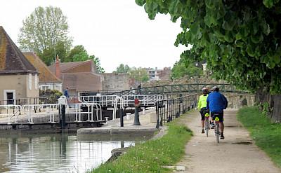 Biking along the Loing River in Montargis, Loiret, France. Flickr:Don Heffernan
