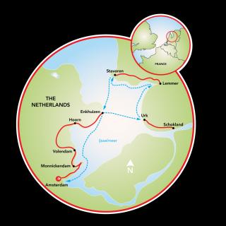 Bike and Sail the Ijsselmeer Map