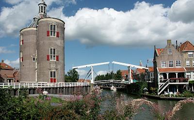 Biking through Enkhuizen, the Netherlands. ©TO