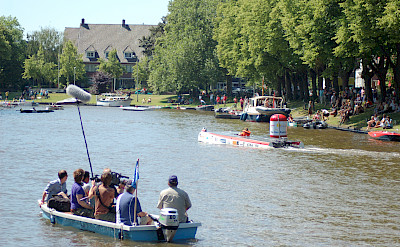 Water sports on the Frisian Lakes in Holland. Photo via Flickr:Geosports nl.