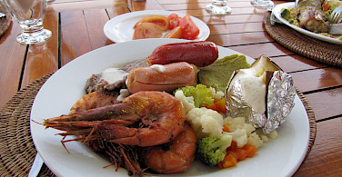 Seafood lunch on the Galapagos Islands, Ecuador. Photo via Flickr:David Berkowitz