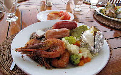 Seafood lunch on the Galapagos Islands, Ecuador. Flickr:David Berkowitz