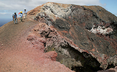 Hiking to the crater of Sierra Negra Volcano, Galapagos Islands, Ecuador. Flickr:Michael R Perry