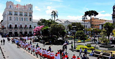 Celebrations on Plaza de la Independencia, Quito, Ecuador. Photo via Flickr:John Solaro