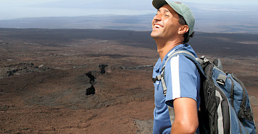Hiking Sierra Negra Volcano, Galapagos Islands, Ecuador. Photo via Flickr:Michael R Perry